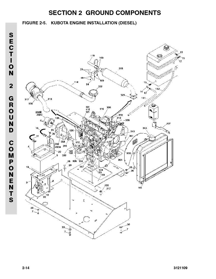 kubota t1460 parts diagram