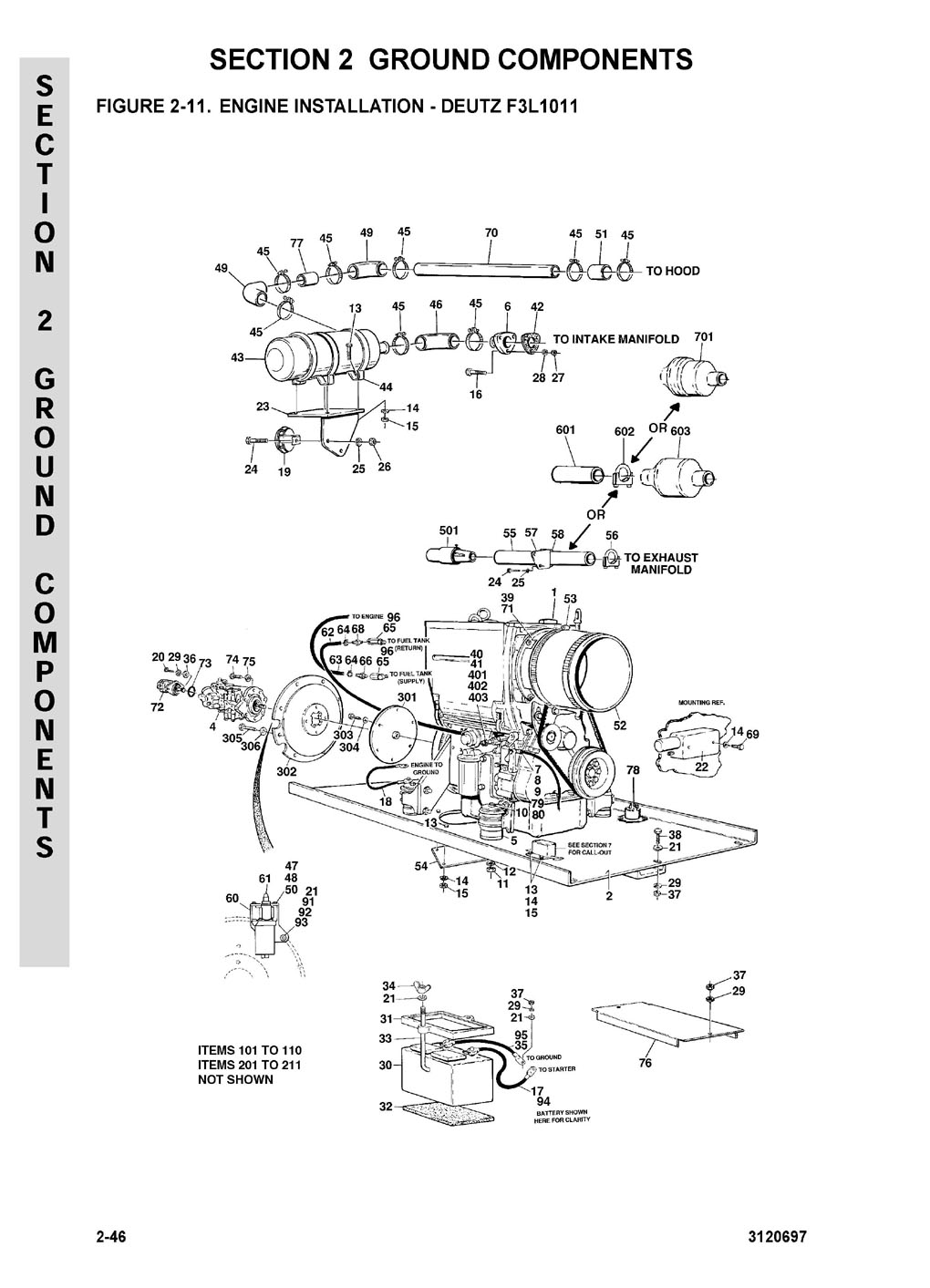 Diesel Engine BFM Service Manual. Pages German, English, French, Spanish  click image Displacement, bore stroke Displacement F2L1011F 1.