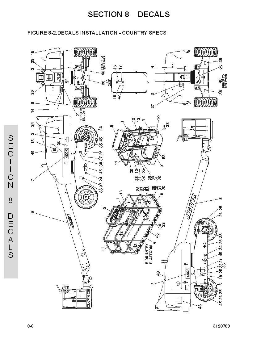 construction equipment parts: jlg parts from www gciron com  jlg 450aj  service manual