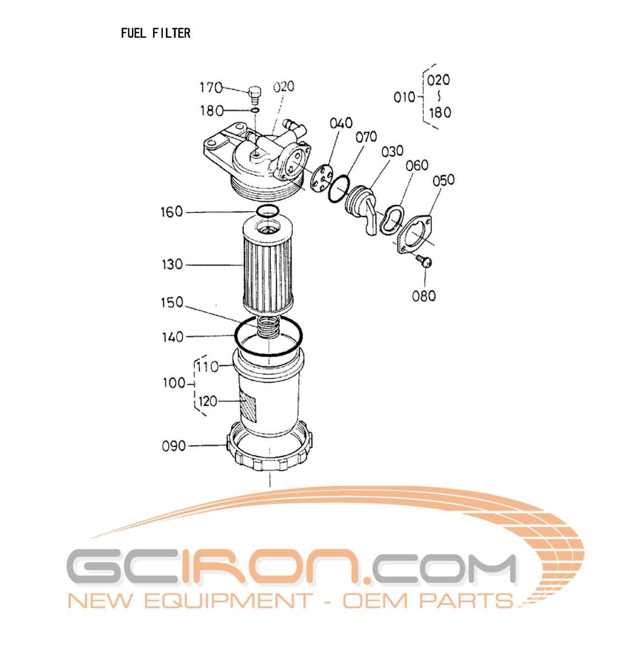 Construction Equipment Parts Jlg From Gcironcom Kubota Fuel Filters