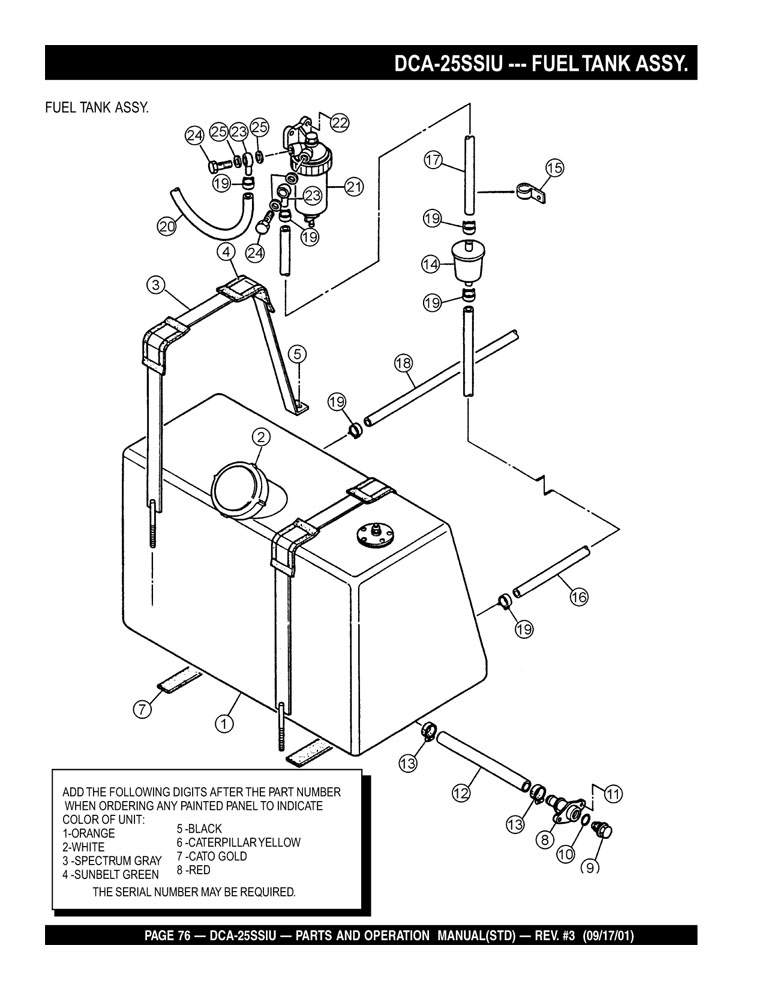 Caterpillar Equipment Part Diagram
