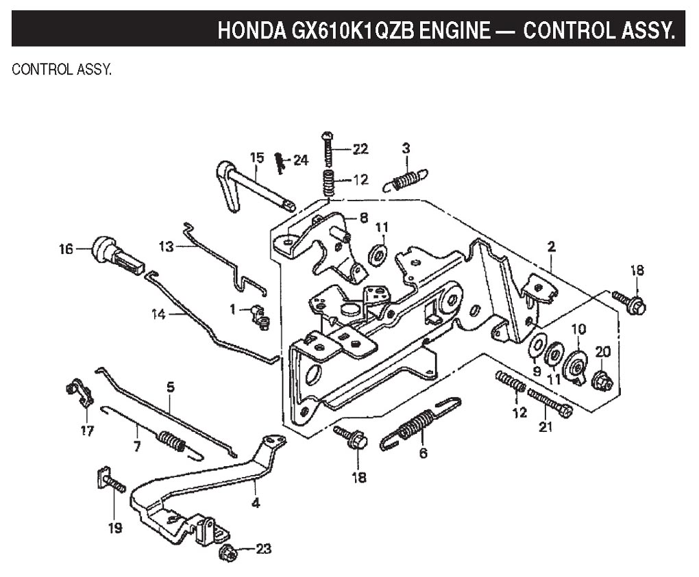 governor spring diagram for honda gx160